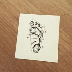 #footprint #illust #tattoo #design #wonseok #tattooist #tattooer #tattoos…