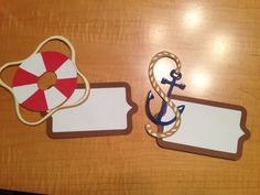 First set of door tags for my residents! First semester resident assistant! SUNY Oswego! Anchors and life rings for our nautical move in theme! Love my door decs!