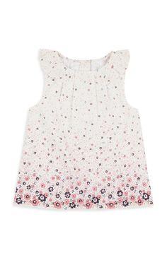 5da1e86496d2b5 Primark - Wit jurkje met bloemdessin Bloemen Blouse