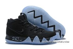 buy online 150fa 3dd6a New Nike Kyrie 4 Black Suede Basketball Shoes