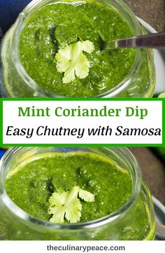 Easy to prepare and quick to make mint and coriander dip popularly known as mint chutney or green chutney to go as an accompaniment to all North Indian dishes and snacks like Samosa, Aloo Tikki, Cutlet or as a sandwich spread. Can be made and stored upto 5 days. #mintchutney #indianrecipes Coriander Chutney Recipe, Chutney Recipes, North Indian Recipes, Easy Indian Recipes, Savoury Dishes, Vegan Dishes, Green Chutney, Sandwich Spread, Everyday Dishes