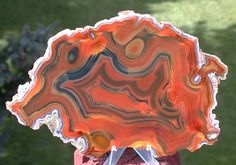 Uncommonly large, full pattern condor agate slab.  sticks-in-stones.com