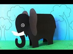 Fun Crafts for Kids : How to Make a Paper Elephant Crafts, Preschool Activities. Looking for a kids craft for your childs school project? This easy paper craft idea will be very useful for Zoo Crafts, Mouse Crafts, Fun Crafts To Do, Animal Crafts For Kids, Crafts For Seniors, Paper Crafts For Kids, Animals For Kids, Preschool Crafts, Projects For Kids