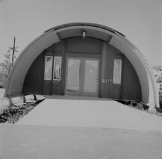 quonset hut houses | This photo shows one of the Quonsets that UCSD aquired when it took ...