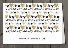 Grußkarte + Briefumschlag + Adressaufkleber zum Valentinstag Glückwunschkarte: