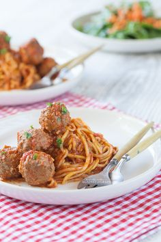 Grain free spaghetti and meatballs
