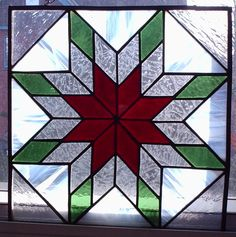 Quilt blocks also make great stained glass panels!