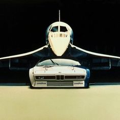 rhubarbes: Bmw M1 and Concorde found via TyrannosaureMore cars here.