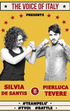 #Battle 2 - The Voice of Italy 2015 - #tvoi #SivliaDeSantis vs #PierlucaTevere #TeamPelù