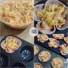 Brioșe aperitiv cu șuncă și cașcaval * ADN de Femeie Macaroni And Cheese, Ethnic Recipes, Food, Sweet Treats, Mac Cheese, Meal, Essen, Hoods, Mac And Cheese