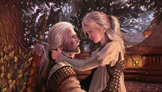 "You're more than that Book scene from ""The Sword of Destiny"" written by Andrzej Sapkowski ""Geralt!"" The witcher turned instantly and rushed to meet the young girl. The scene left Yurga speechless. Ciri Witcher, The Witcher Geralt, Witcher Art, The Witcher Books, The Witcher Game, Witcher 3 Wild Hunt, Call Of Cthulhu, Witcher Wallpaper, 1366x768 Wallpaper"