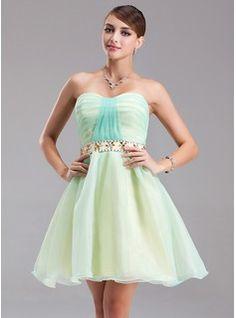 Homecoming Dresses - $114.99 - A-Line/Princess Sweetheart Short/Mini Organza Homecoming Dress With Ruffle Beading  http://www.dressfirst.com/A-Line-Princess-Sweetheart-Short-Mini-Organza-Homecoming-Dress-With-Ruffle-Beading-022021037-g21037