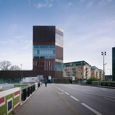 """Completed in 2014 in Lille, France. Images by Julien Lanoo. In in his preface titled """"Quantum Leap"""" for the work presenting the Euralille project, Rem Koolhaas wrote: """"In our contemporary world, programs. Lan Architecture, Office Building Architecture, Arch Building, Office Buildings, Contemporary Architecture, Rem Koolhaas, Versailles, Villa Phuket, France City"""