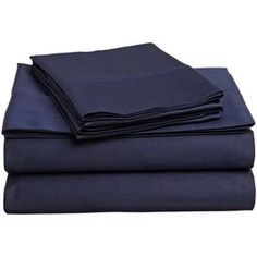 Colleen Egyptian Cotton Sheet Set in Navy Blue