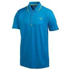 5d99c4942a38 Puma Golf Mens Cat Jacquard Polo Shirt Knit rib collar with contrast  tipping Three button placket