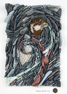 Divine Union of Fire and Water - Natural stone mosaic.
