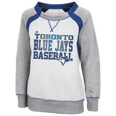MLB Toronto Blue Jays Majestic Womens Lovely Leaguer Sweatshirt