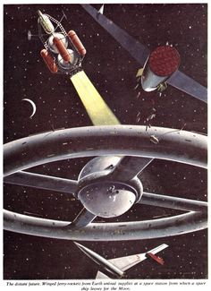 spacequest:  Chesley Bonestell (1888-1986) was a pioneer of astronomical and space art...