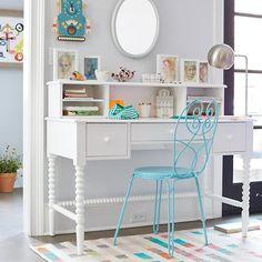 Jenny Lind Spindle Desk & Hutch