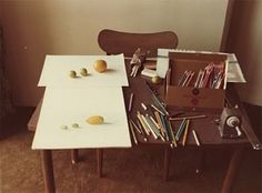 David Hockney, Desk with Colored Pencils, 1972