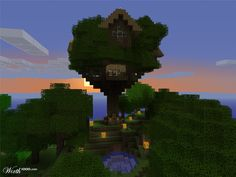 pin minecraft house tree cool houses on pinterest picture