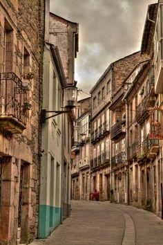 Calle Mayor de Sarria, Spain.