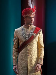 Banana Cream Sherwani