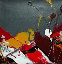Tuto peinture semi abstraite en technique mixte par cynthia dormeyer l 3 - Peinture rouge bordeaux ...