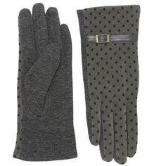 Gorgeous Gray Polka dots Gloves Grey / Polyurethane / One Size / Glove •   ChiqStyle No : 000507860 •   ONE SIZE   •   Polyurethane   •   GREY Accessories Gloves & Mittens