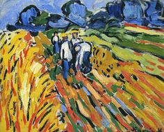 The Potato Pickers Artwork By Maurice De Vlaminck Oil Painting & Art Prints On Canvas For Sale Andre Derain, Henri Matisse, Raoul Dufy, Georges Braque, Impressionist Artists, Impressionism Art, Maurice De Vlaminck, Modern Art Styles, Modern Artists