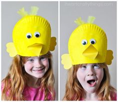 Silly Paper Plate Bird Hats Your Kids will Love  sc 1 st  Pinterest & 7/9/12 - Paper Plate Fascinators (a fun craft for girls! :D ...