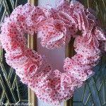 Valentine Cupcake Liner Wreath