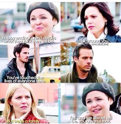 """""""Going Home""""] I'm not crying my eyes are just sweating 😭 - [ ] Regina And Emma, Mary Margaret, Regina Mills, Captain Hook, Emma Swan, Going Home, Ouat, Once Upon A Time, Crying"""