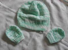 Lu Artvida: Gorro e luva de lã para bebê (tricô) Com receita.