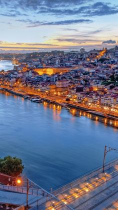 portugal, lisbon, river, night, buildings, coast, hdr