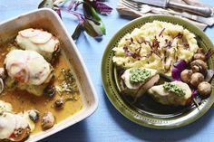 Piept de pui cu pesto de leurda – Aventuri Culinare In 2 Pasta Salad, Pesto, Potato Salad, Potatoes, Lunch, Dinner, Ethnic Recipes, Food, Crab Pasta Salad