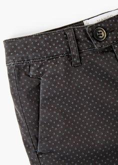 Pantalón algodón estampado | MANGO KIDS