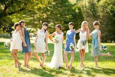 different bride maid dresses?