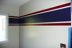 I like this idea for painting the boys room in a different color scheme though.