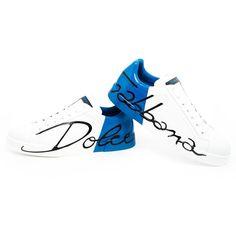 DOLCE   GABBANA Calf Leather Sneaker With Logo ( 485) 7f76ca4bdf4a