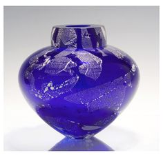 Ship in 2-4 weeks Free blown art glass vase, hand shaped. Multi-layered colors…