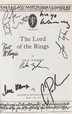 Signed by the cast of the lord of the rings. (I would like this for Christmas Please) Hint Hint