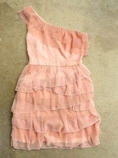 Tiered Peony Chiffon Party Dress