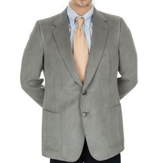 Lanvin #FeatherSuede #Blazer #SportCoat 2 Button 40R Gray Mens USA Made Neimans #Lanvin #SomeLikeItUsed #Ebay