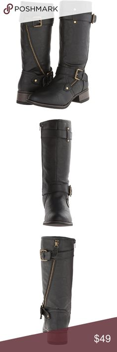 Boots Wild Pair Women's Poulsbo Motorcycle Boot, Black Shoes Combat & Moto Boots