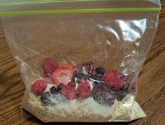 Oatmeal Packets   Make your own oatmeal packets!    3/4 c THRIVE quick oats  1 T THRIVE powdered milk  1 T THRIVE brown sugar  1 T THRIVE strawberries  1 T THRIVE blueberries  1 T THRIVE blackberries  1 T THRIVE raspberries    Place all ingredients into a zip lock baggie and store until ready to use.    When ready to use  Place in microwave-safe bowl  Add 1 1/2 c water  Microwave for 2-3 minutes or until desired consistency.    (Adapted from recipe found on Ready With Thrive (dot) blogspot…