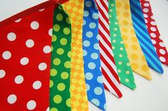 Circus Birthday Decoration, Party Banner, Carnival Bunting, Kids Photo Prop - red, yellow, blue, green - Sesame Street Party Theme