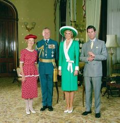 January 26 1988 Portrait of Diana and Charles taken at Government House in Sydney
