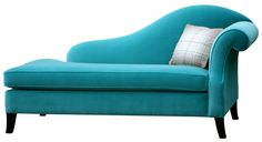 Turquoise fainting sofa...I'd faint if I could ever find one...lol...
