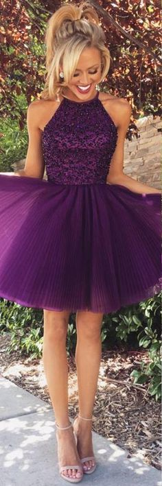 Homecoming Dress Short Prom Cocktail Dresses with Keyhole Back pst0027